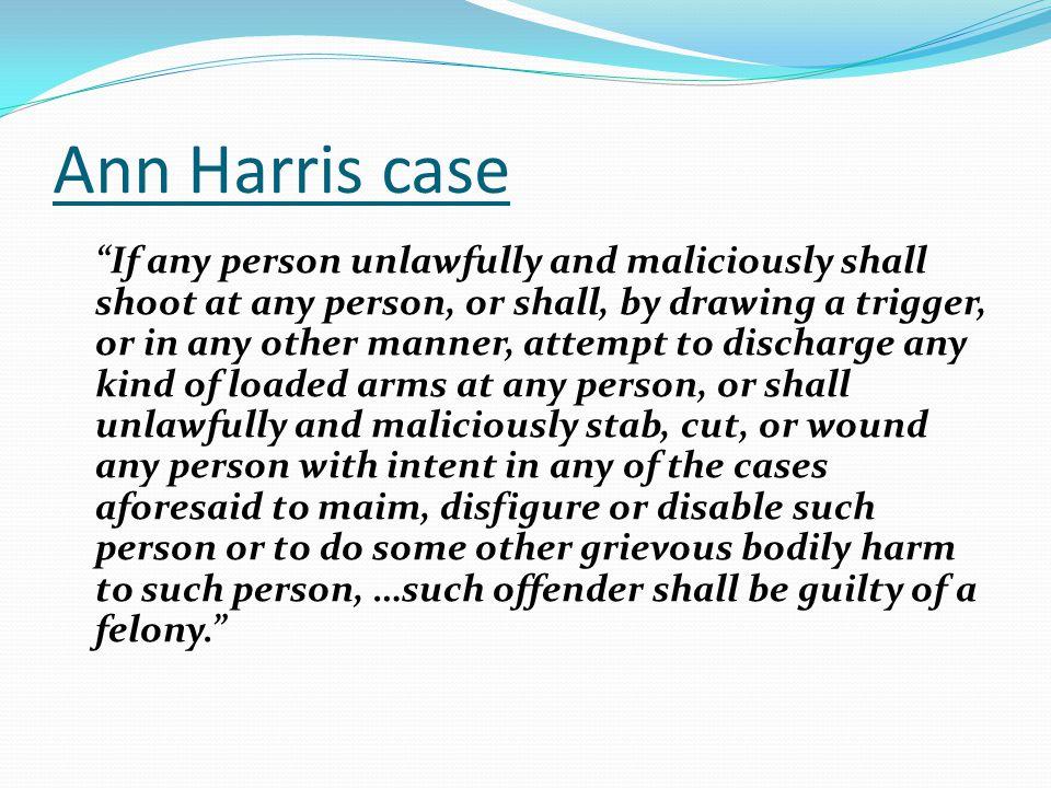 Ann Harris case