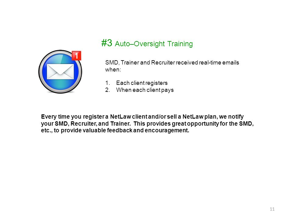 #3 Auto–Oversight Training
