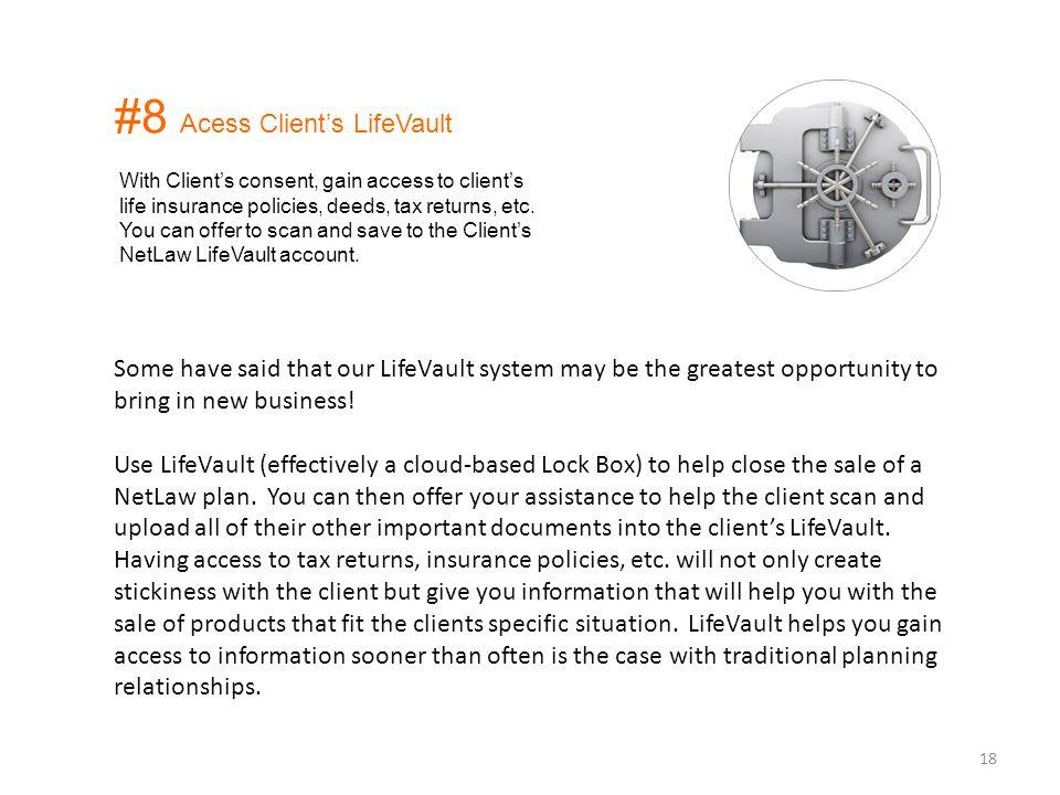 #8 Acess Client's LifeVault