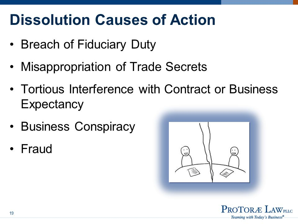 Dissolution Causes of Action
