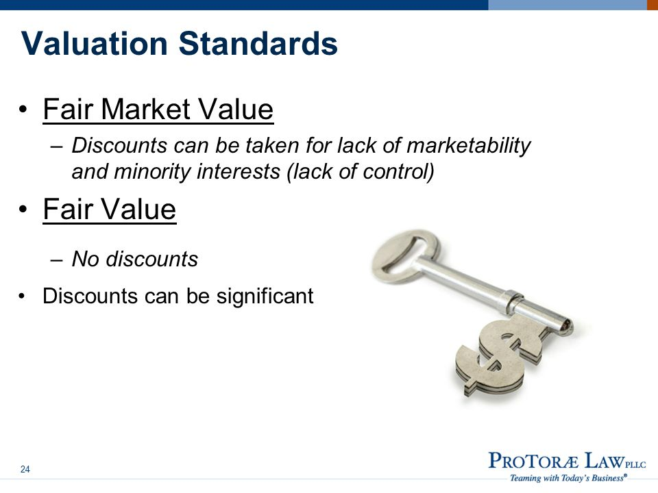 Valuation Standards Fair Market Value Fair Value