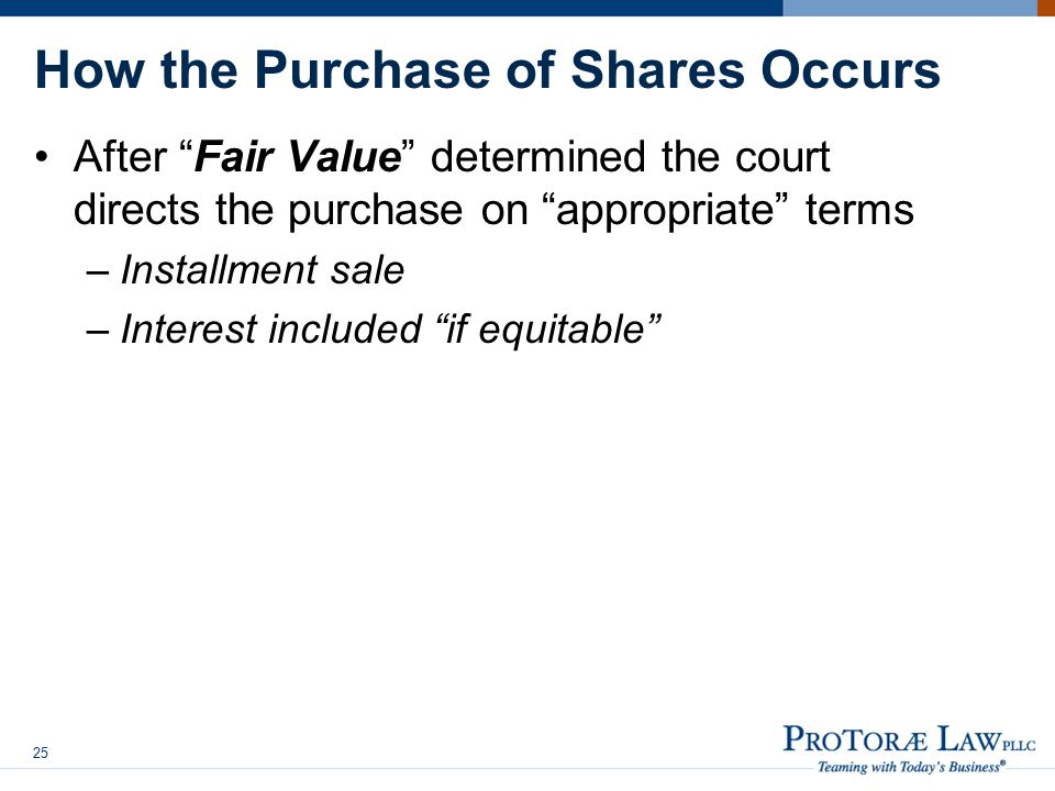 How the Purchase of Shares Occurs