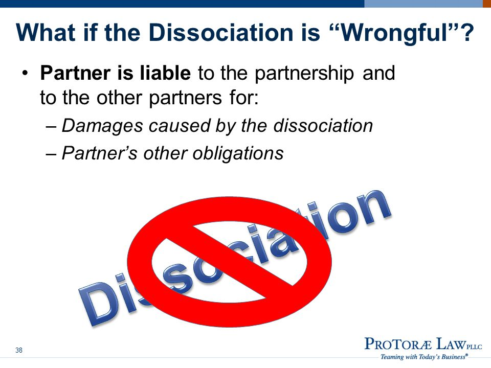What if the Dissociation is Wrongful