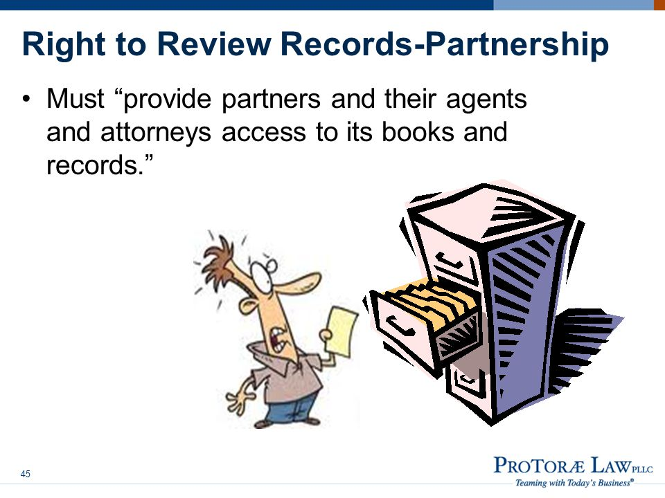 Right to Review Records-Partnership