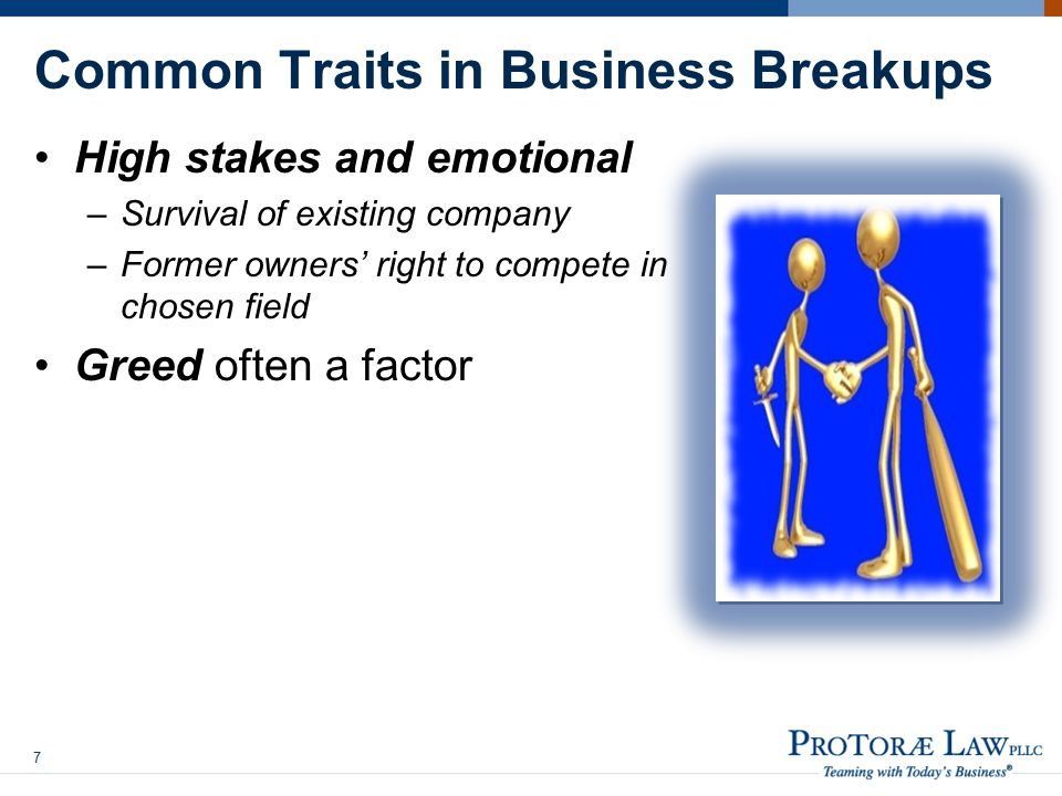 Common Traits in Business Breakups