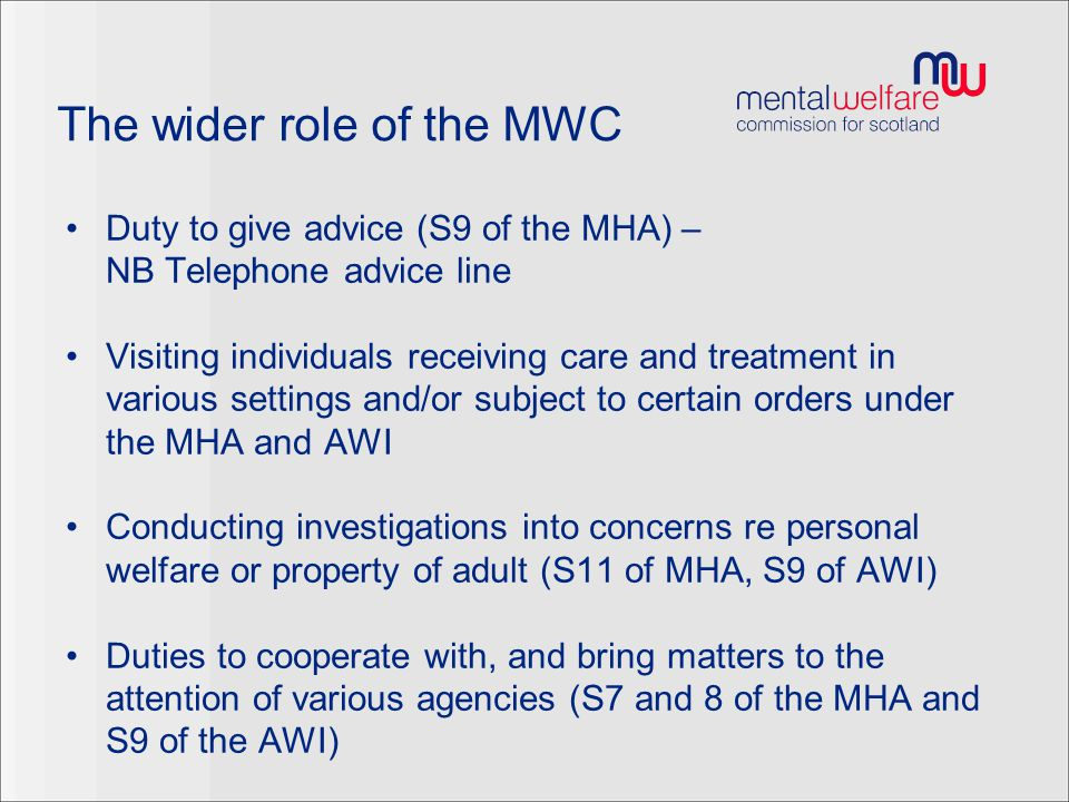 The wider role of the MWC