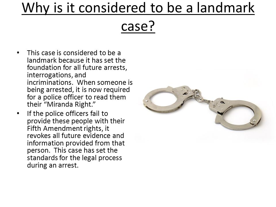 Why is it considered to be a landmark case