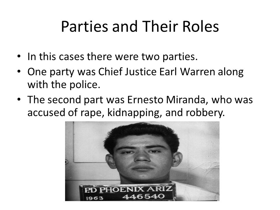 Parties and Their Roles