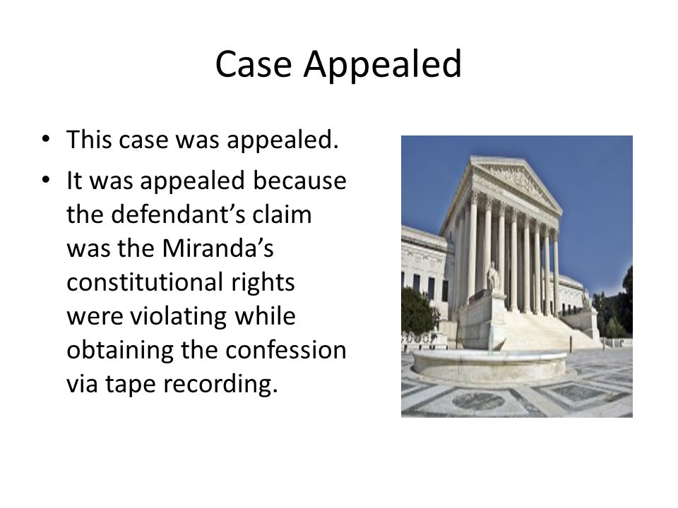 Case Appealed This case was appealed.
