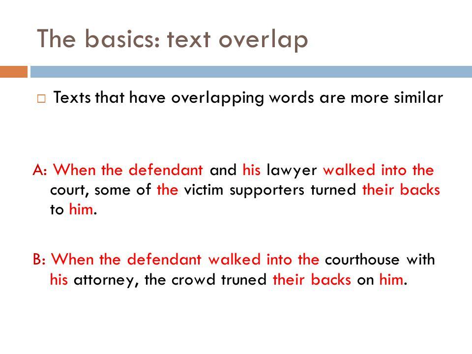 The basics: text overlap