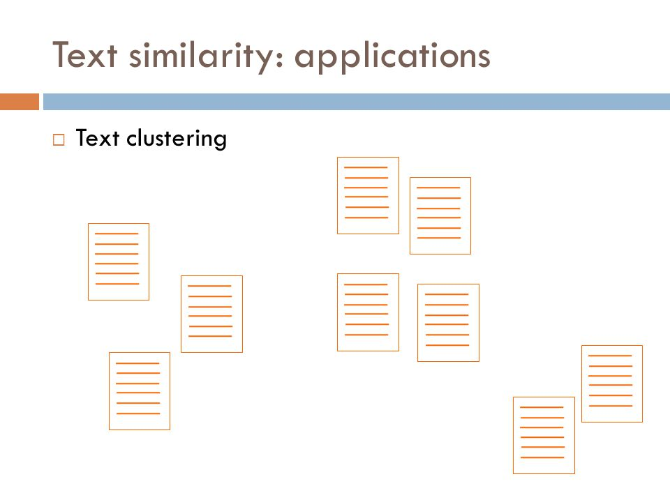 Text similarity: applications