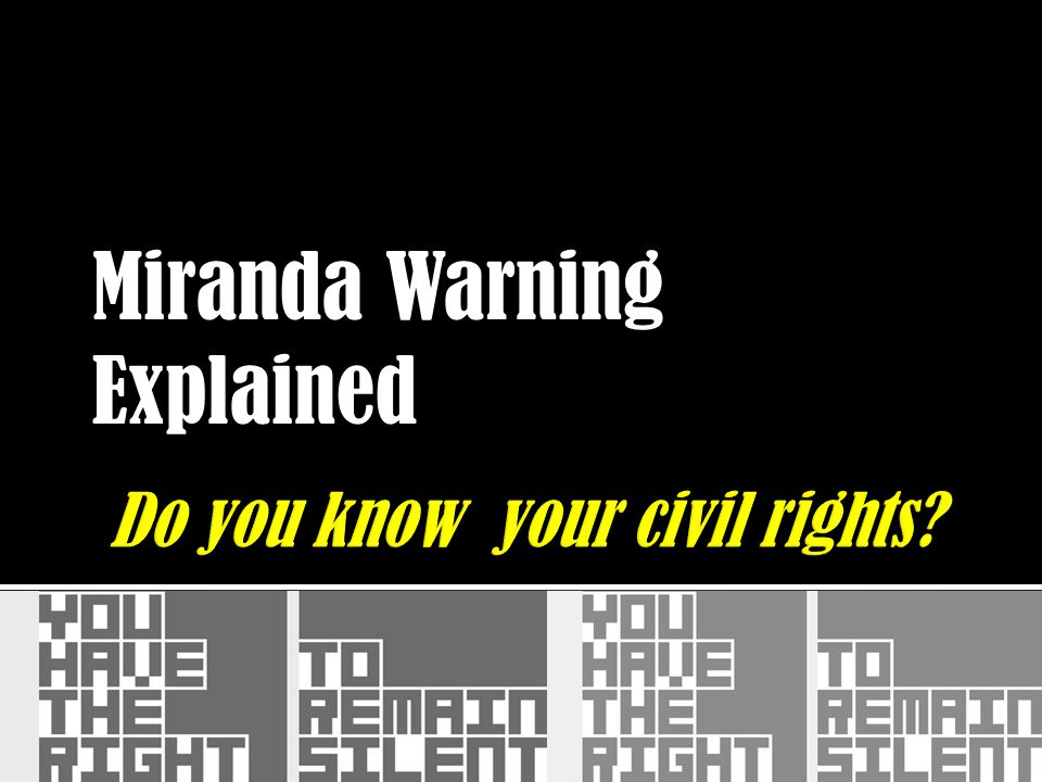 Do you know your civil rights