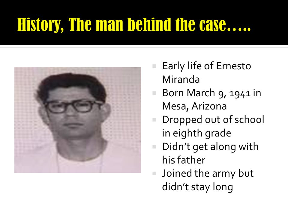History, The man behind the case…..