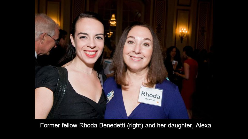 Former fellow Rhoda Benedetti (right) and her daughter, Alexa