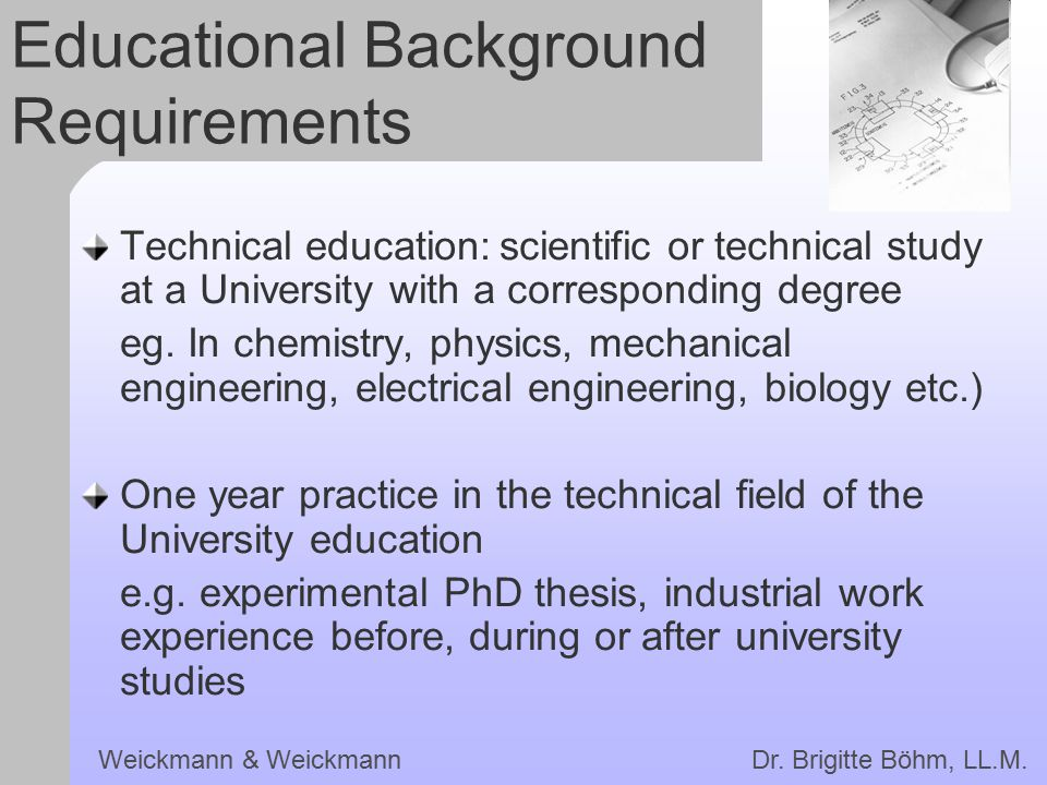 Educational Background Requirements