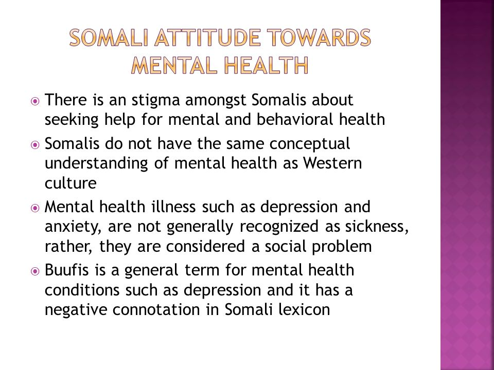 Somali attitude towards Mental health