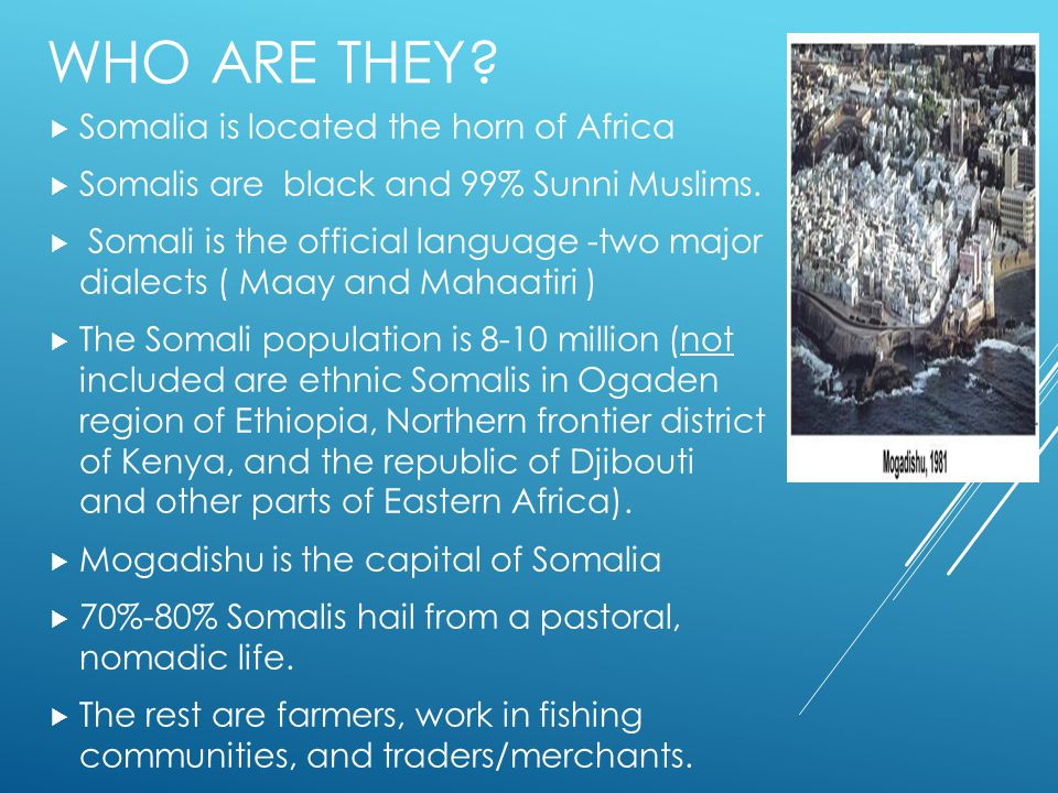 Who are they Somalia is located the horn of Africa