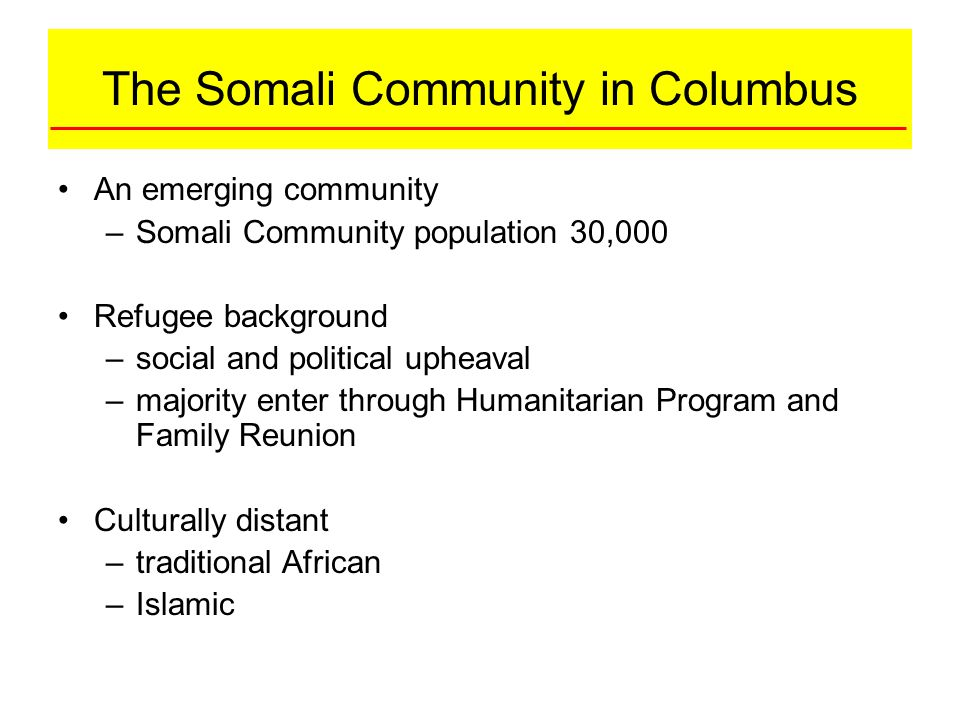 The Somali Community in Columbus