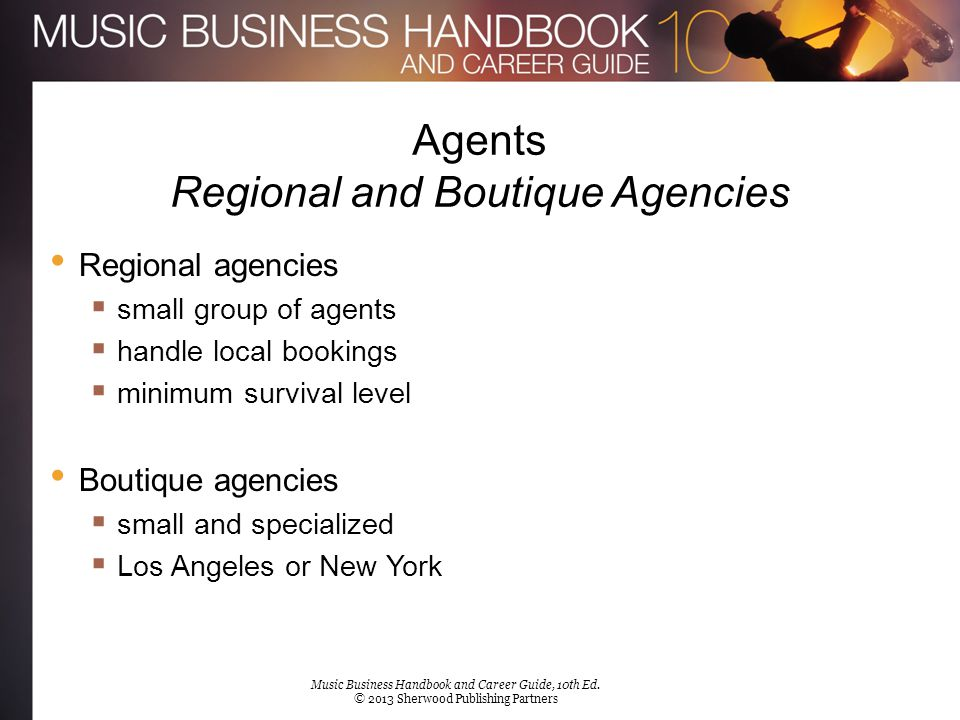 Agents Regional and Boutique Agencies