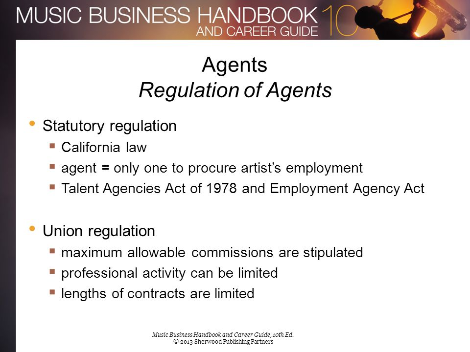 Agents Regulation of Agents