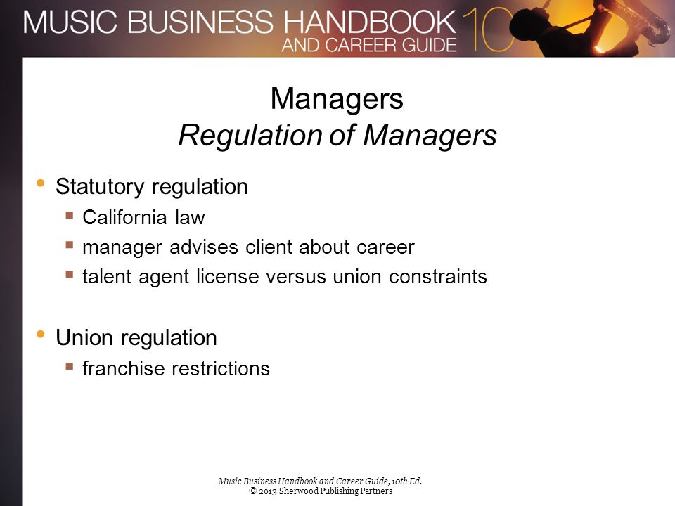 Managers Regulation of Managers