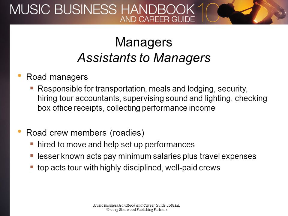 Managers Assistants to Managers