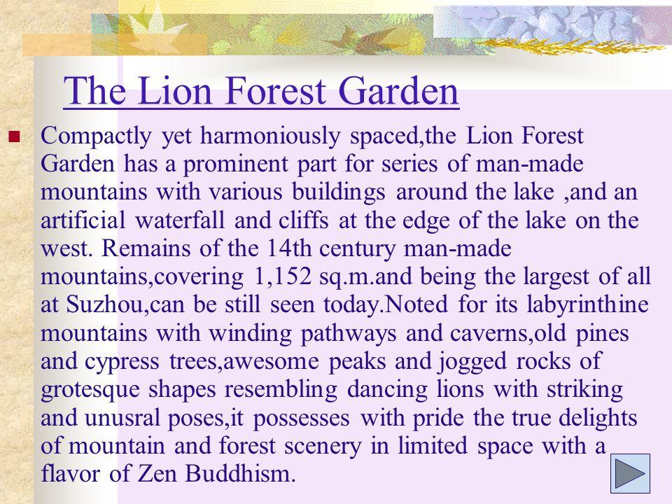The Lion Forest Garden