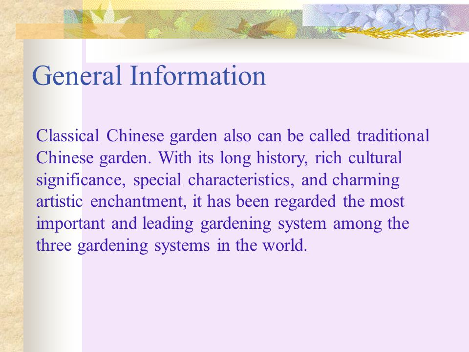 Classical gardens ppt download for Garden and its importance
