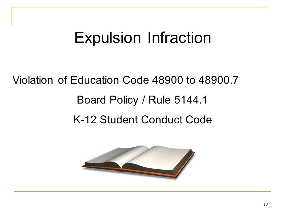 K-12 Student Conduct Code