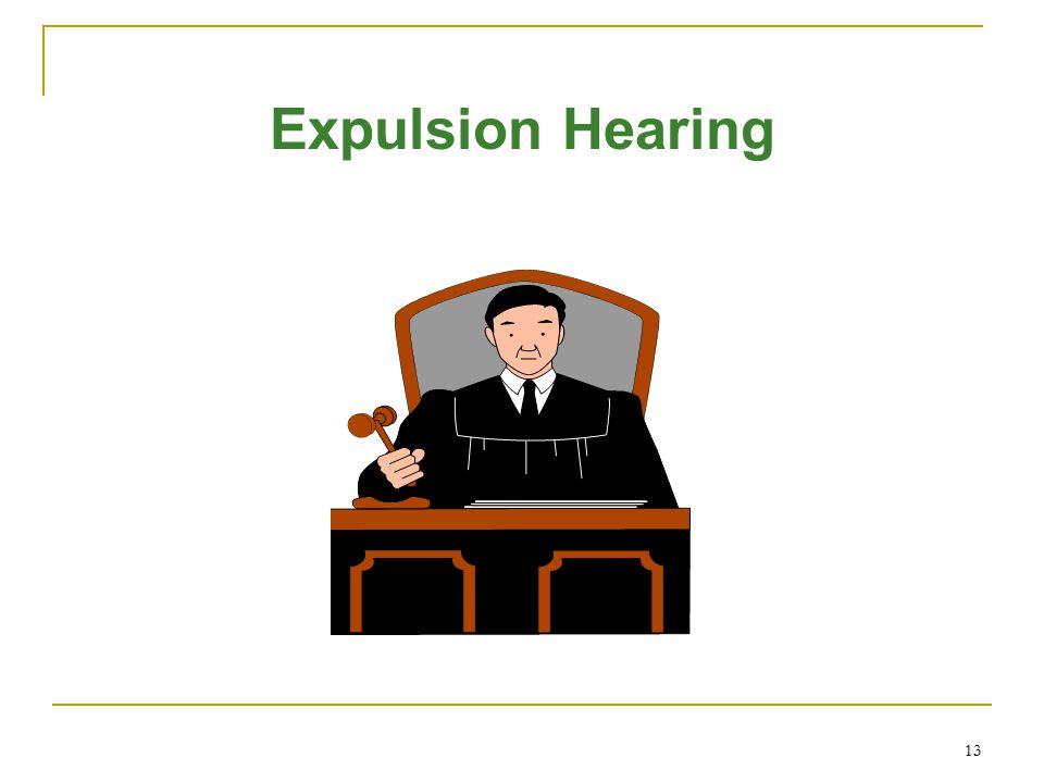 Expulsion Hearing