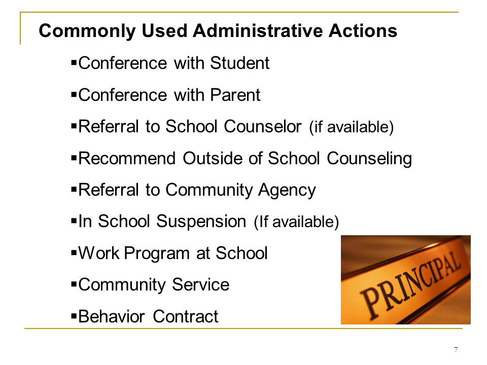 Commonly Used Administrative Actions