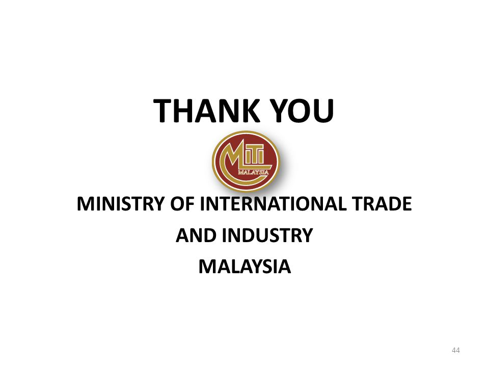 MINISTRY OF INTERNATIONAL TRADE