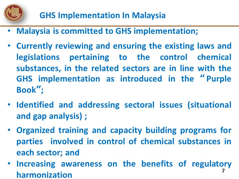 GHS Implementation In Malaysia