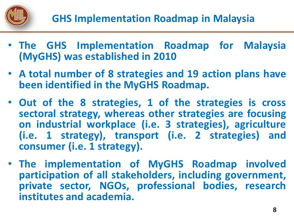 GHS Implementation Roadmap in Malaysia