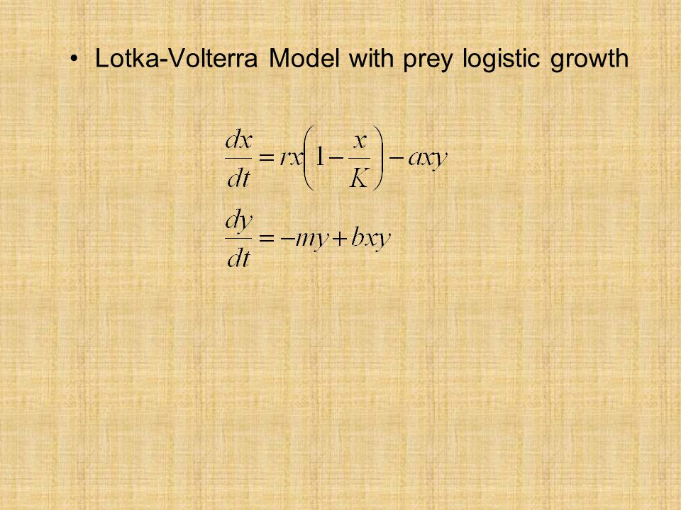 Lotka-Volterra Model with prey logistic growth