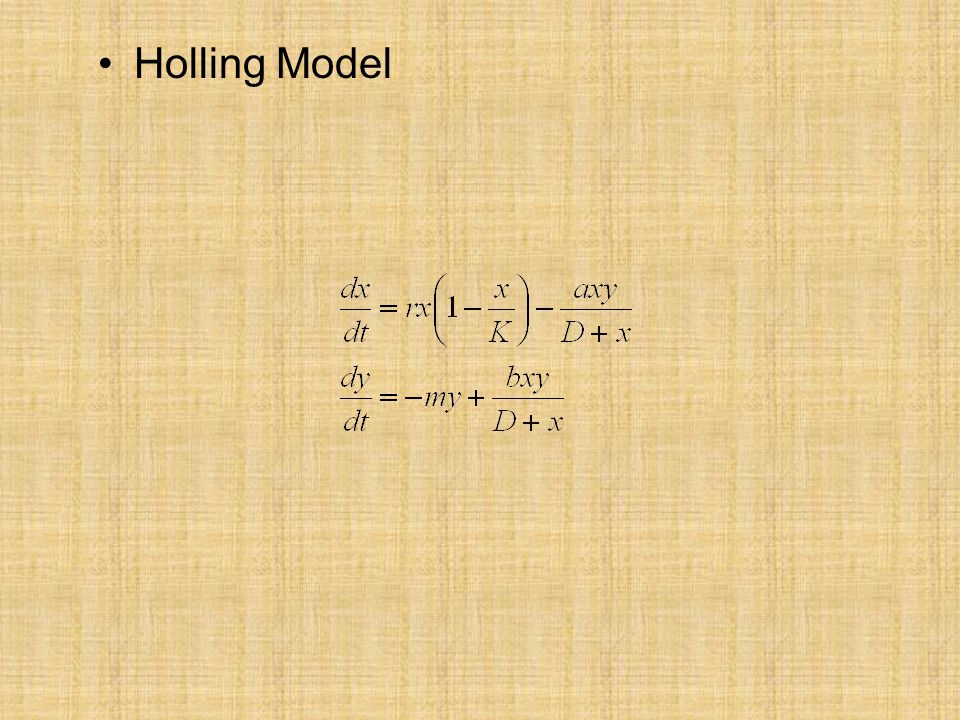 Holling Model