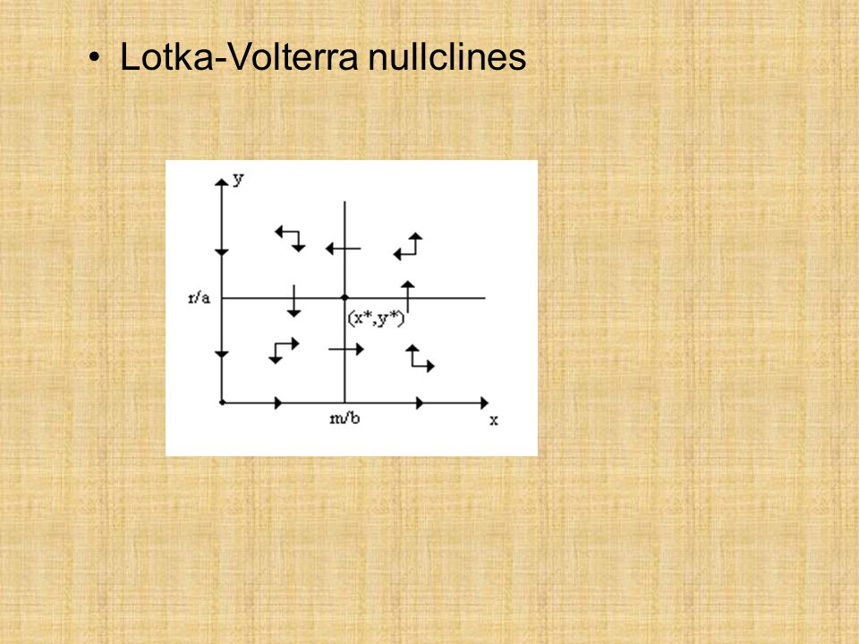 Lotka-Volterra nullclines
