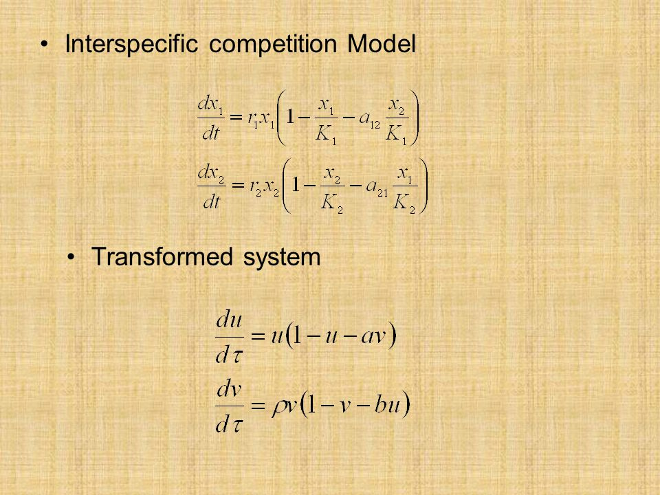 Interspecific competition Model