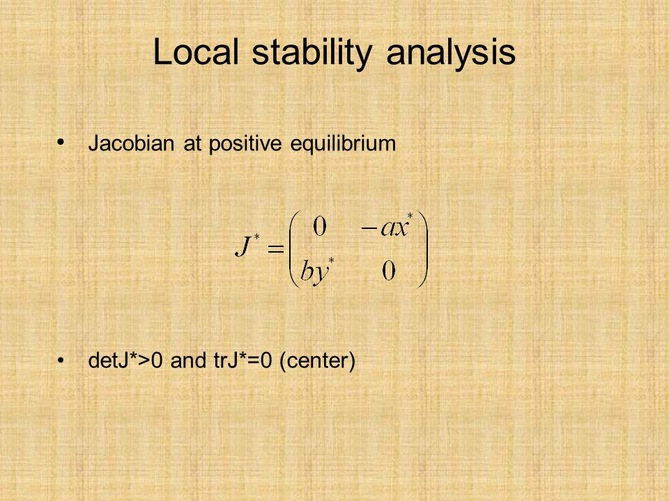 Local stability analysis