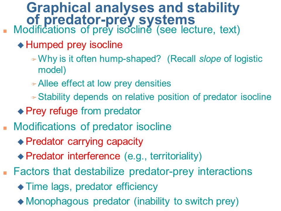 Graphical analyses and stability of predator-prey systems