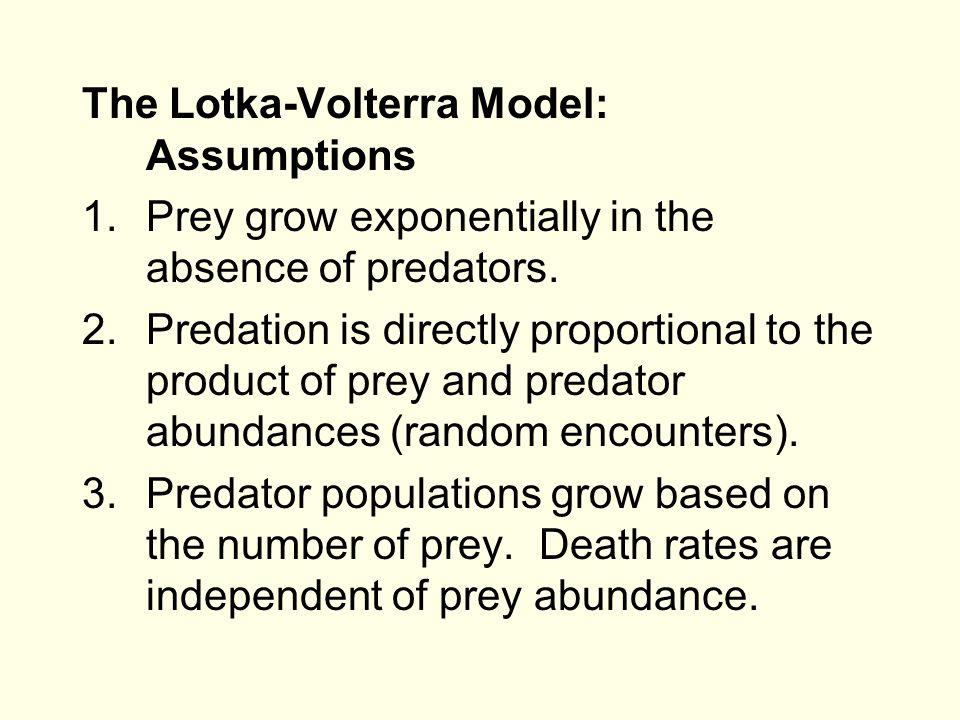 The Lotka-Volterra Model: Assumptions