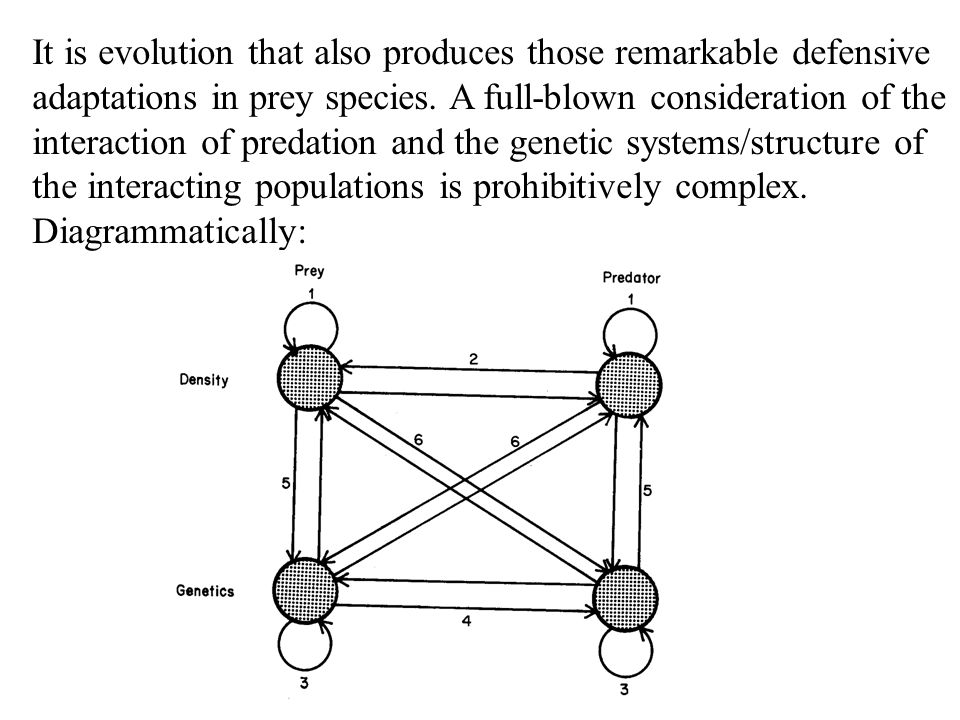 It is evolution that also produces those remarkable defensive