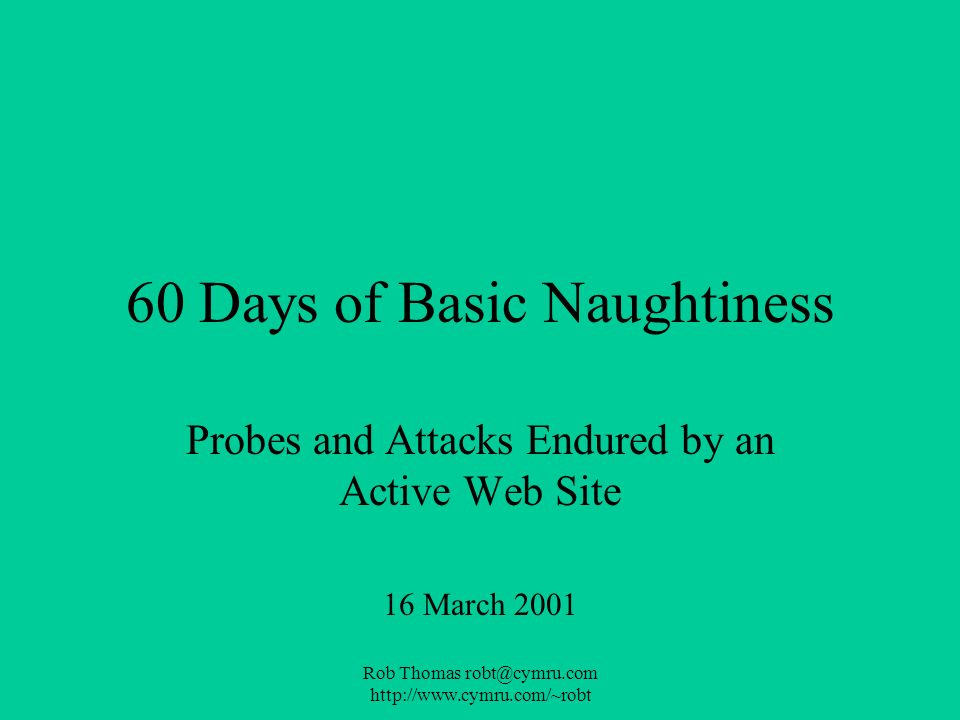60 Days of Basic Naughtiness