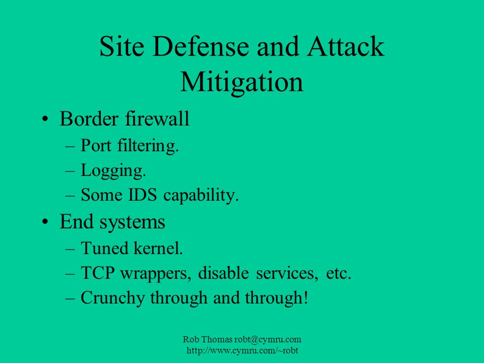 Site Defense and Attack Mitigation