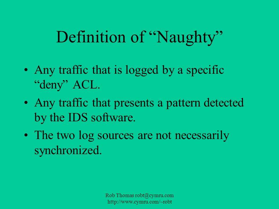 Definition of Naughty