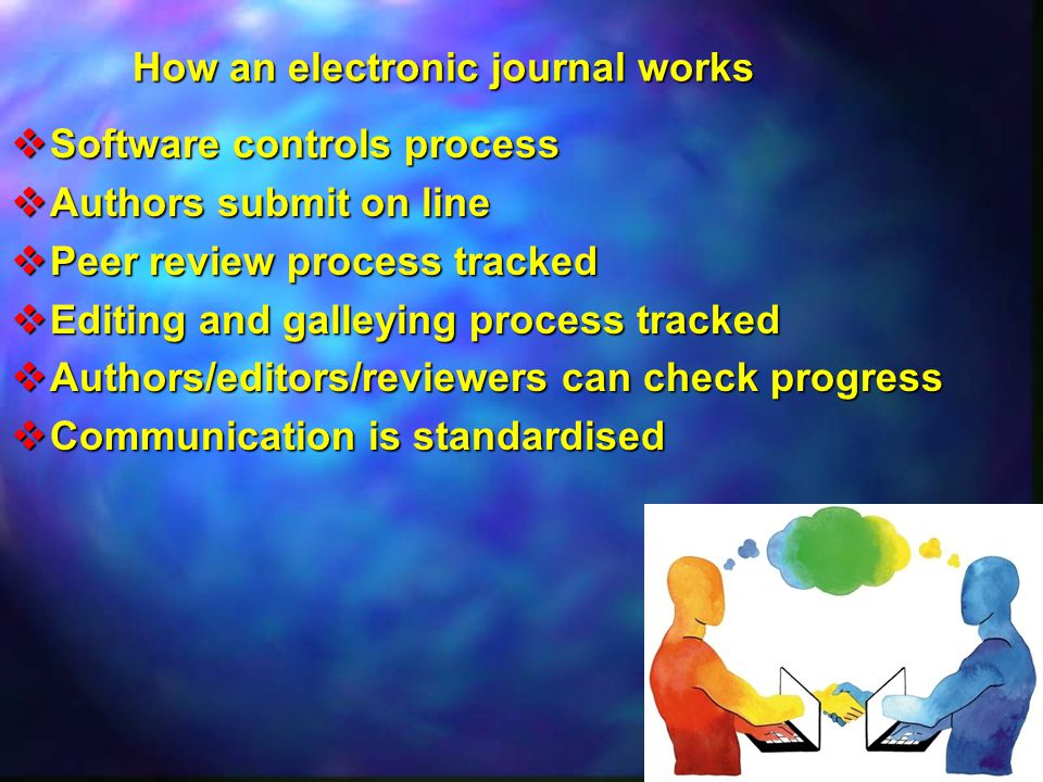How an electronic journal works