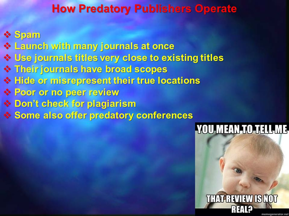 How Predatory Publishers Operate