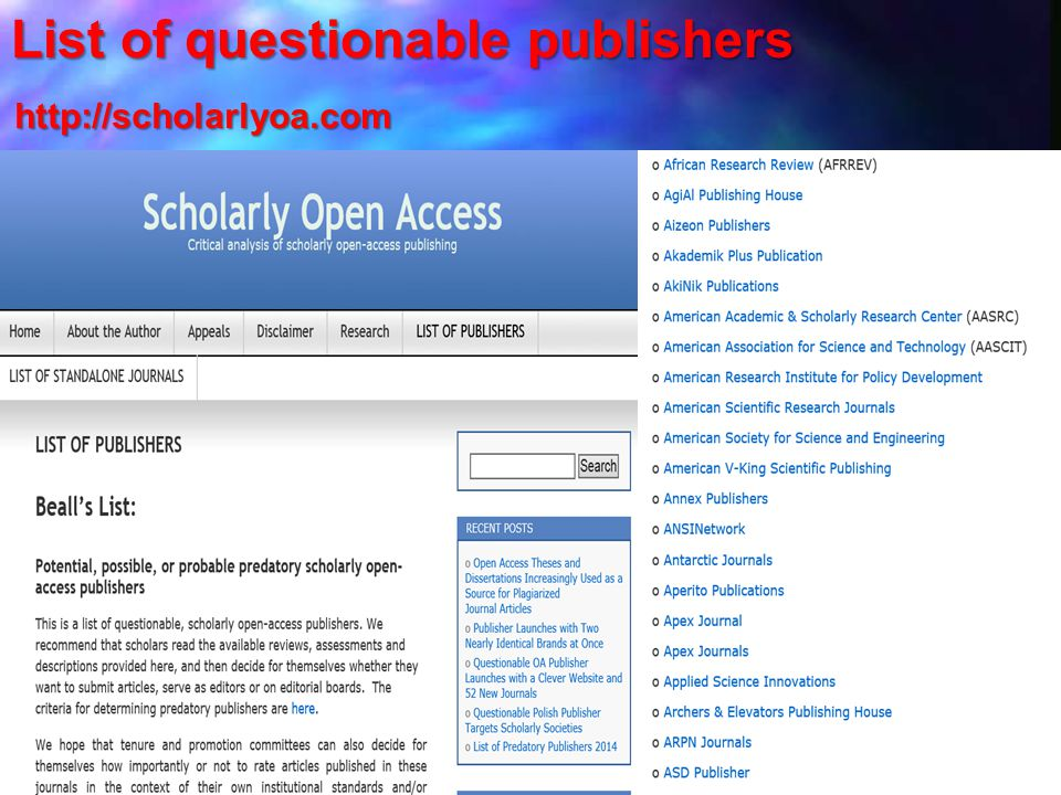 List of questionable publishers