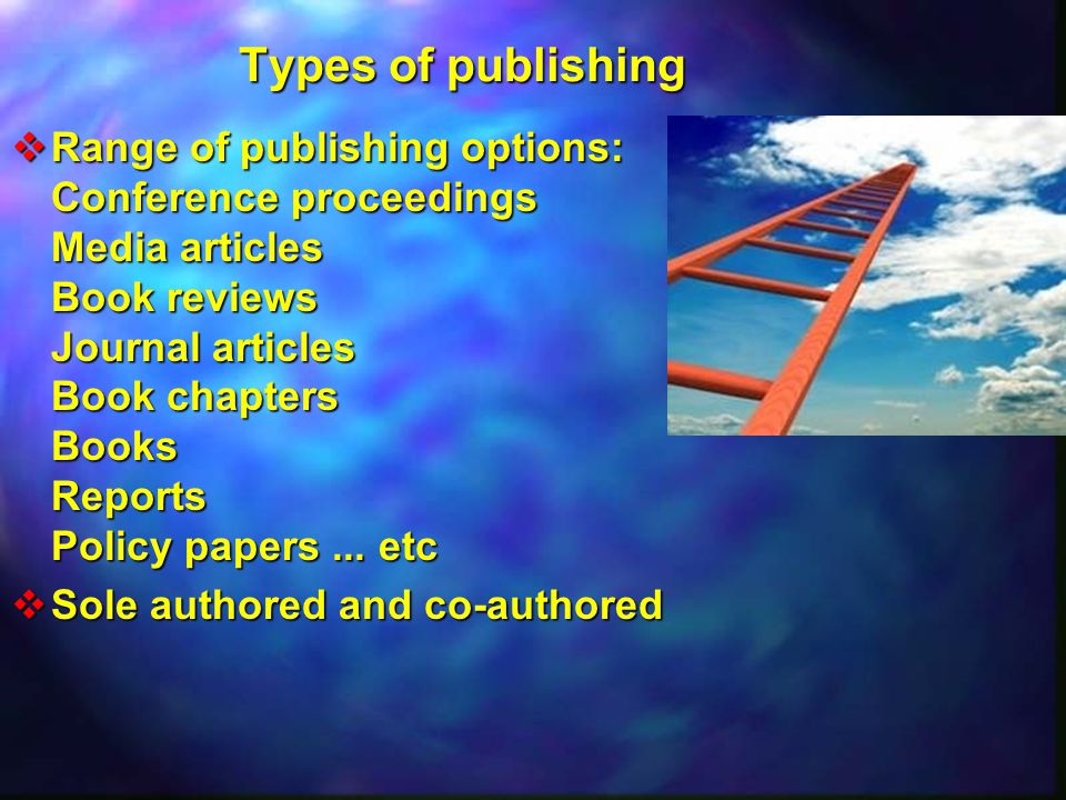Types of publishing