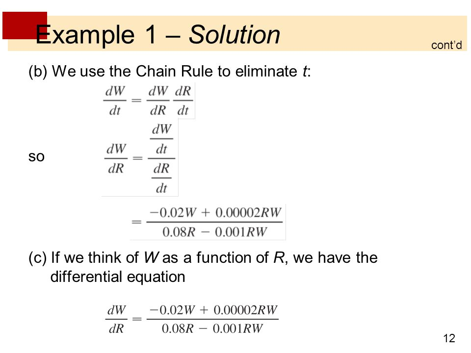 Example 1 – Solution (b) We use the Chain Rule to eliminate t: so